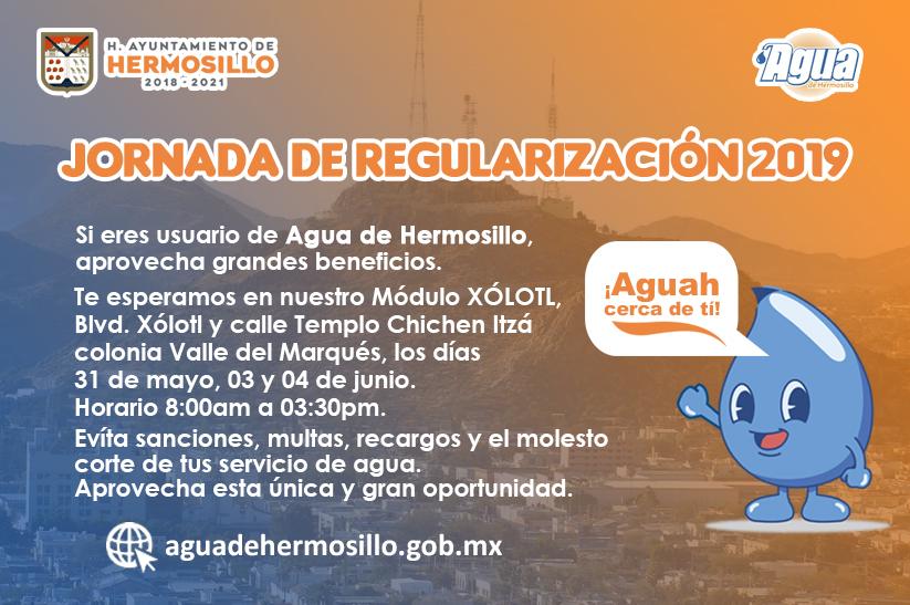 Agua De Hermosillo Jornada De Regularización En Módulo Xólotl