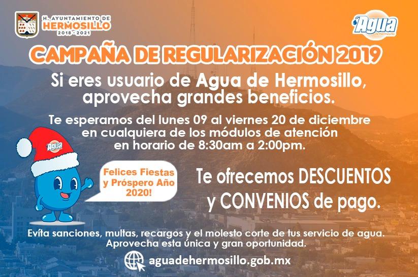 Agua De Hermosillo Campaña De Regularización 2019